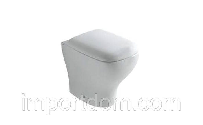 Унитаз напольный пристенный Globo Genesis GE002.BO белый матовый