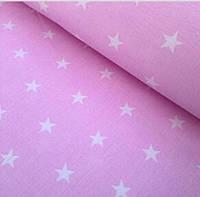 """Ткань """"звезды на розовом"""""""