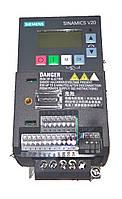 Siemens V20  Однофазный 0,75 кВт  6SL3210-5BB17-5UV0 Частотный преобразователь
