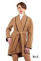 Пальто женское модное средней длины ВС-2 демисезонное