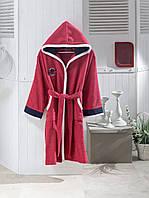 Детский халат ALTINBASAK красный 8-10 лет.