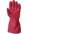 Перчатки резиновые хозяйственные 40см роза -лето