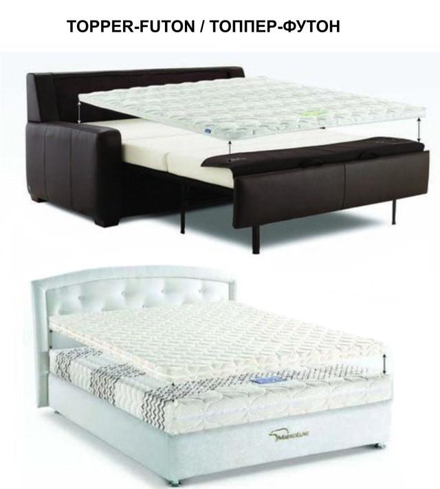 Матрасы Топпер-Футон ассортимент на диваны и кровати