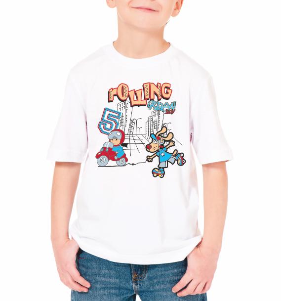 """Детская футболка """"Rolling"""""""