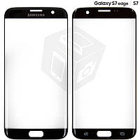 Стекло корпуса для Samsung Galaxy S7 EDGE G935F, черное, оригинал