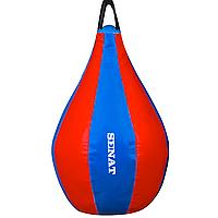 Груша боксерская Senat 40 x 22 см ПВХ Blue-Red