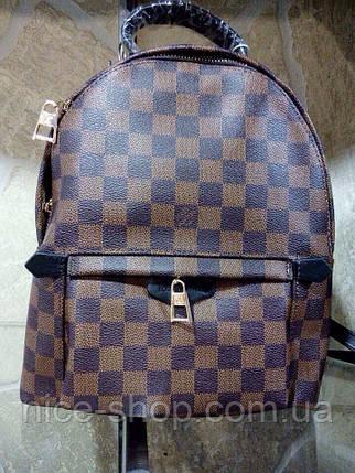 Рюкзак Louis Vuitton средний Люксовый, коричневая шахматка, фото 2