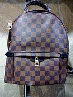 Рюкзак Louis Vuitton средний Люксовый, коричневая шахматка