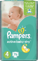 PAMPERS Active Baby 4 MAXI 76 шт. (7-14kg) GIANT PACK
