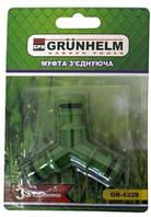 Соединение для шланга Grunhelm GR-4329 блистер (тройное)