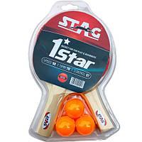 Набор для настольного тенниса Stag One Star Play Set Two Bats (TTRA-329)