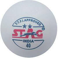Мячи для настольного тенниса Stag Two Star Ball (3 шт.) White (TTBA-400)