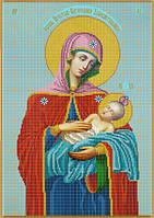 Схема для вышивки бисером Икона Божией Матери Успокоительница