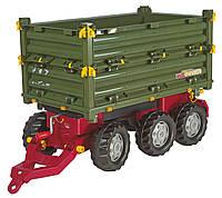 Прицеп 3х осевой Multi Trailer Rolly Toys зеленый