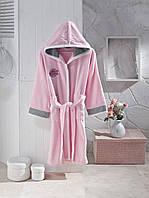 Детский халат ALTINBASAK светло-розовый 14-16 лет.