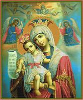 Схема для вышивки бисером Икона Божьей Матери Достойно есть