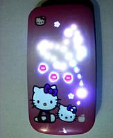 Hello Kitty Samsung W777 стильная раскладушка для девочек (2 сим карты, хеллоу китти)