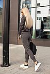 Женский стильный повседневный костюм: кофта и брюки (3 цвета), фото 2