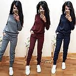 Женский стильный повседневный костюм: кофта и брюки (3 цвета), фото 7
