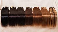 Натуральные волосы на заколках 50 см, 10 прядей,  в ассортименте
