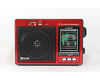Аналоговое радио Golon RX-006, диапазон FM/AM/SW, поддержка USB/SD накопителей, АКБ/220 V/4 х R20