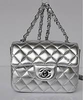 Женская сумка CHANEL MINI FLAP SILVER (8139)