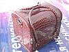 Бьюти-кейс. сумка для мастеров индустрии красоты. Цвет - бордо, лаковый.