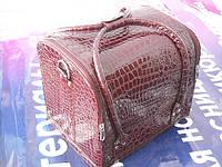 Бьюти-кейс. сумка для мастеров индустрии красоты. Цвет - бордо, лаковый., фото 1