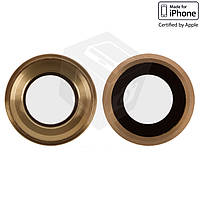 Стекло камеры для Apple iPhone 6S, оригинал, золотистое