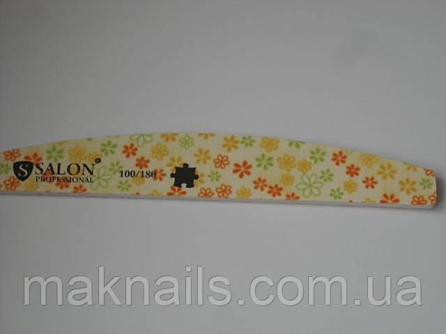 Пилка для ногтей Salon Professional 100/180 (лодочка)