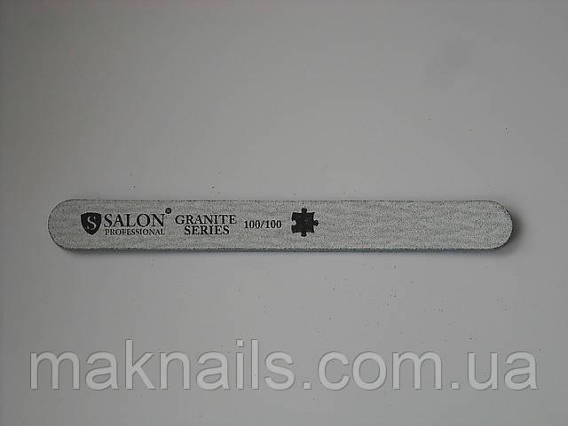 Пилка Salon Professional для ногтей GRANITE 100\100  узкая прямая