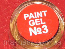 Гель краска для ногтей  SP 003 красная алая