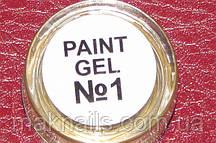 Гель фарба для нігтів SP 001 яскраво біла
