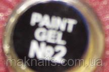 Гель фарба для нігтів SP 002 чорна