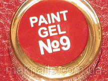 Гель фарба для нігтів SP 009 класичний червоний