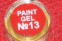 Гель фарба для нігтів SP 013 червоний