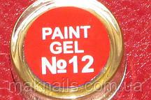 Гель фарба для нігтів SP 012 оранжево-червоний