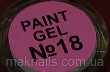 Гель фарба для нігтів SP 018 рожевий класичний