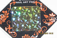 Фольга для литья и дизайна ногтей в листе золото галография