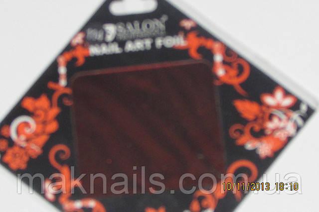 Фольга для литья и  дизайна ногтей в листе . Корица металлик