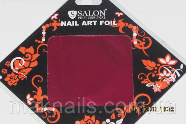 Фольгаля литья и дизайна ногтей в листе . Ярко-розовый металлик