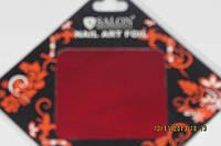 Фольга для литья и дизайна ногтей в листе .  Красный  металлик