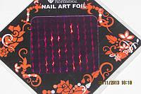 Фольга для литья и  дизайна ногтей в листе. Фиолетовый голограмма.