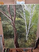 Картина маслом на холсте 30х40 Непара