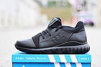 Зимние кроссовки кожа Adidas Tubular Runner