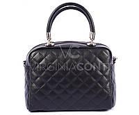Черная кожаная сумка 9948