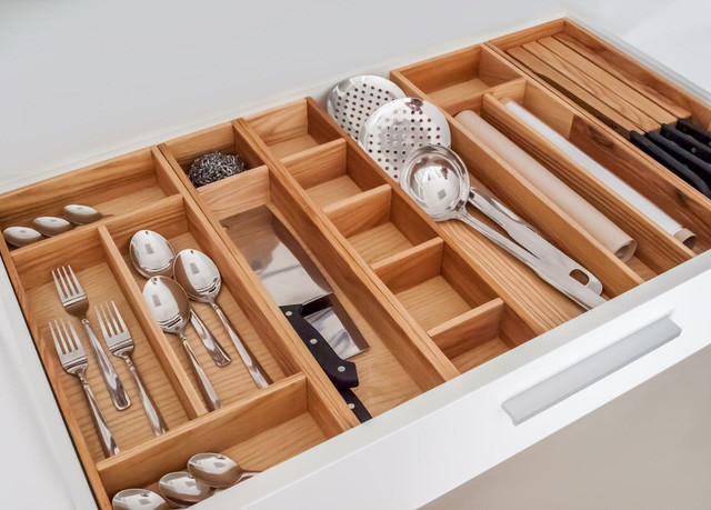 Подарки к Новому году для вашей кухни. Организаторы внутреннего пространства для ящиков. Ясень.
