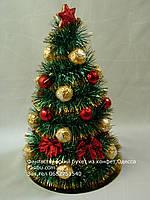 Новогодняя конфетная елка 30 см из ferrero rocher №16