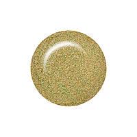 Гель лак Salon Professional № 151 прозрачный с золотистыми и зелеными микроблестками