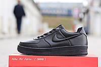 Зимние черные кроссовки Nike Air Force